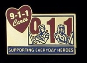 911CARES Supporting Everyday Heroes Pin