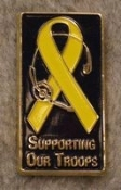 Support the Troops Pin