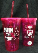 16 Ounce Pink-Colored Double Wall Tumbler