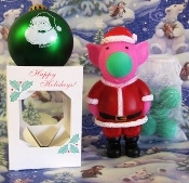 Santa Pig popper and Green Ornament