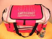 Big Duffle Bag BG99 Tropical Pink and Gray