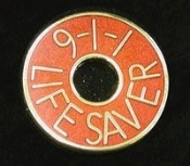 9-1-1 Lifesaver Pin