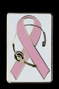 Breast Cancer Ribbon Pin
