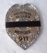 Fallen Heroes Shield/ Badge Pin In Silver