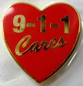 911CARES Heart Pin