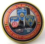 9/11 Ten year memorial lapel pin