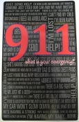 911 What is Your emergency? Magnet