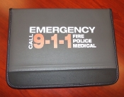 Black and Gray Folio with 9-1-1 Imprint