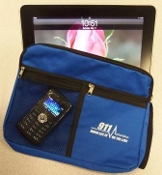 Royal Blue Personal Bag With 911 Lifeline Imprint