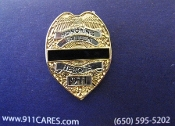 Fallen Heroes Shield/ Badge Pin GOLD