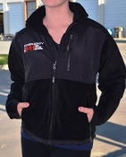 GIN Embroidered Unisex Fleece Jacket All Black