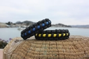 "Thin Blue Line and Thin Gold Line 8"" and 9"" Para Cord Bracelets"