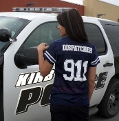 Ladies Navy 911 DISPATCHER Jersey