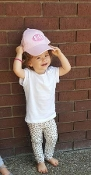 Embroidered Pink Baseball Cap