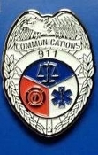 911 Communications Silver Shield/ Badge
