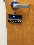HER HERO HIS SUNSHINE MINI PLAQUE
