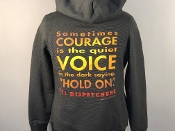 COURAGE ZIP-UP HOODIE BLACK & GRAY