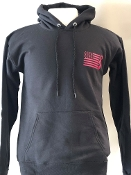 USA BREAST CANCER RIBBON HOODIE