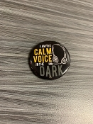 THE CALM VOICE IN THE DARK MINI BUTTON