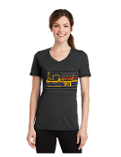 LADIES V-NECK GRAY FIRST RESPONDER T-SHIRT