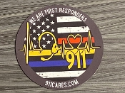 "This high quality magnet is great for your locker, cubicle, fridge, car or motorhome. Our exclusive ""We Are FIRST RESPONDERS"" artwork is in full color and looks amazing!"