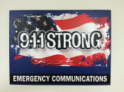 Plaque 9-1-1 STRONG 12x16