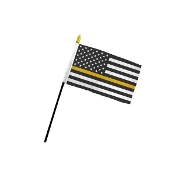 4 X 6 GOLD LINE STICK FLAG