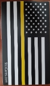STICKER-GOLD LINE FLAG-SMALL