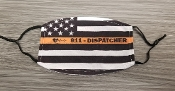 FACEMASK-911 THIN GOLD LINE